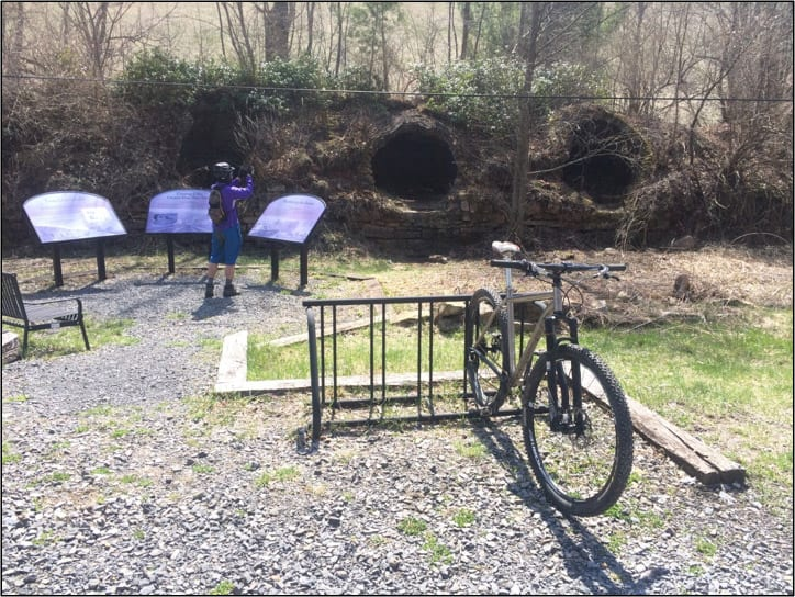 Biking the Blackwater Canyon coke ovens