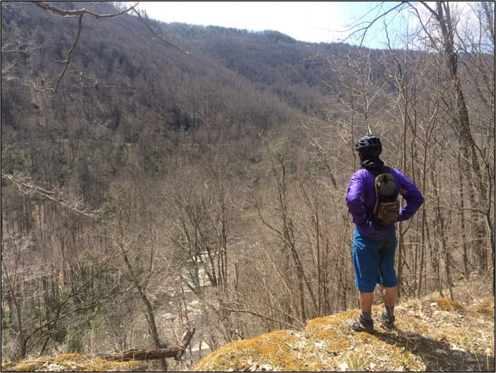 Biking the Blackwater Canyon views