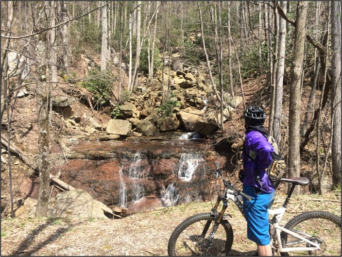 Biking the Blackwater Canyon waterfalls
